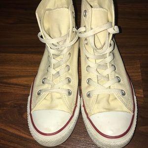 "224a8855c7d1 Converse Shoes - ""Natural white"" (vanilla) converse high tops"